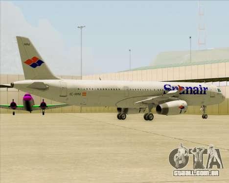 Airbus A321-231 Spanair para o motor de GTA San Andreas