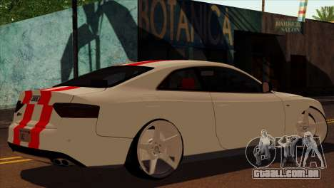 Audi S5 2007 para GTA San Andreas esquerda vista