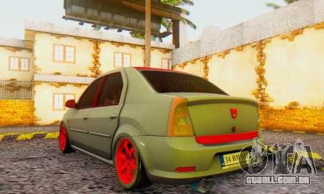 Dacia Logan Turkey Tuning para GTA San Andreas esquerda vista