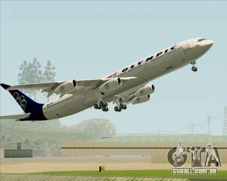 Airbus A340-313 Olympic Airlines para as rodas de GTA San Andreas