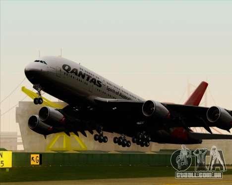Airbus A380-841 Qantas para GTA San Andreas vista interior