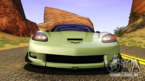 Chevrolet Corvette Z06 2006 Drift Version para GTA San Andreas vista direita