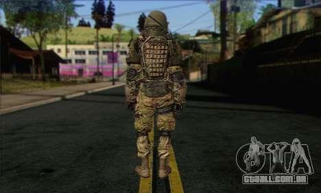 Task Force 141 (CoD: MW 2) Skin 9 para GTA San Andreas segunda tela