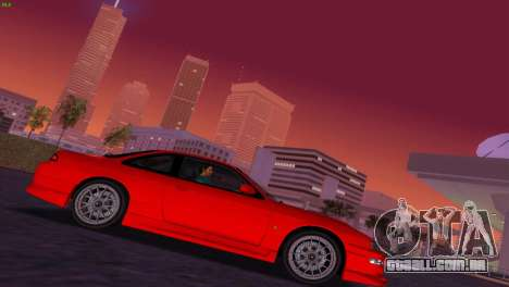 Nissan Silvia S14 RB26DETT Black Revel para GTA Vice City vista traseira