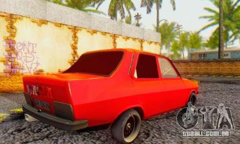 Dacia 1300 Tuned para GTA San Andreas traseira esquerda vista