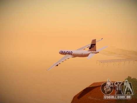 Airbus A340-300 Finnair para GTA San Andreas interior