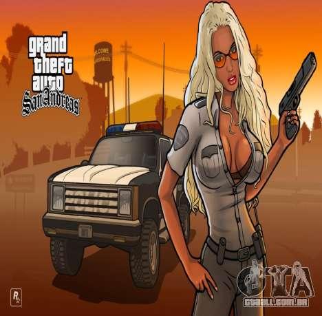 HD tela de carregamento e menu para GTA San Andreas segunda tela