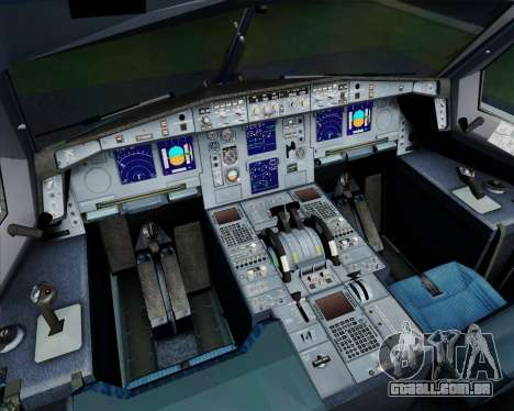 Airbus A330-300 Philippine Airlines para GTA San Andreas interior