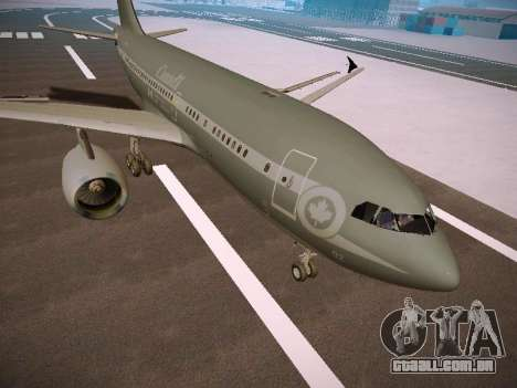 Canadian Forces Airbus CC150 Polaris para GTA San Andreas esquerda vista