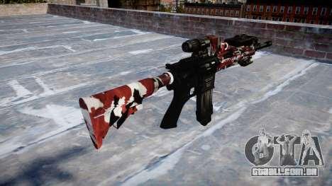 Automatic rifle Colt M4A1 estão vermelhos para GTA 4 segundo screenshot