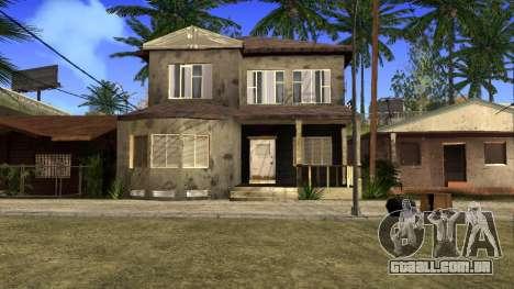 Novas texturas HD casas na grove street v2 para GTA San Andreas nono tela