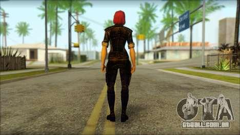Mass Effect Anna Skin v8 para GTA San Andreas segunda tela