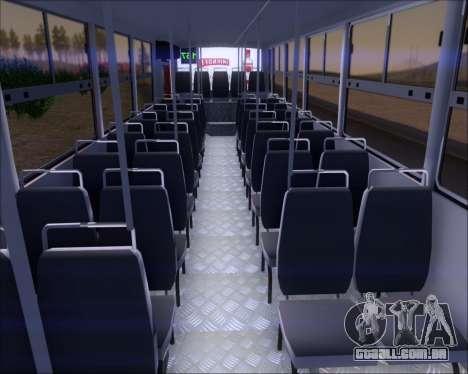 Ciferal GLS Bus Mercedes-Benz OH1420 para GTA San Andreas vista traseira