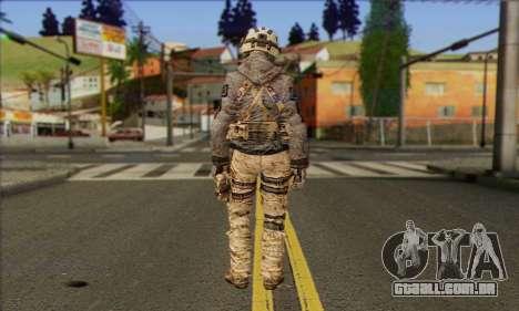 Task Force 141 (CoD: MW 2) Skin 13 para GTA San Andreas segunda tela