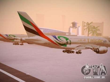 Airbus A380-800 Emirates Rugby World Cup para GTA San Andreas vista direita