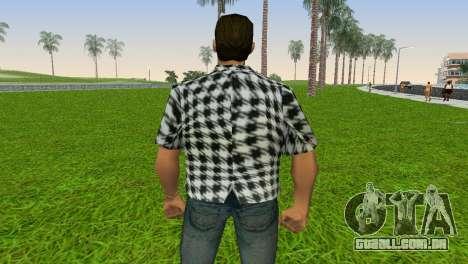Kockas polo - fekete T-Shirt para GTA Vice City por diante tela