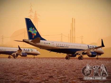 Embraer E190 Azul Brazilian Airlines para GTA San Andreas vista traseira