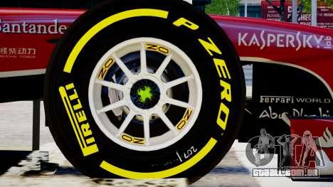 Ferrari F138 v2 para GTA 4 vista de volta