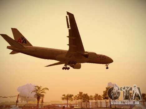 Boeing 777-223ER American Silver Bullet para vista lateral GTA San Andreas