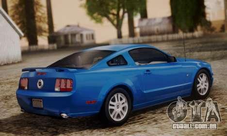 Ford Mustang GT 2005 v2.0 para GTA San Andreas esquerda vista
