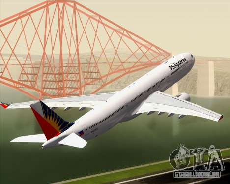 Airbus A330-300 Philippine Airlines para as rodas de GTA San Andreas