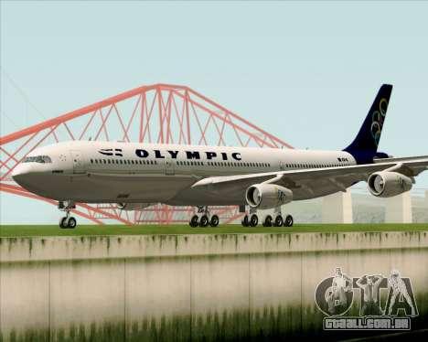 Airbus A340-313 Olympic Airlines para GTA San Andreas esquerda vista