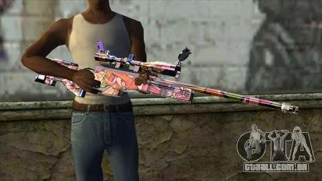 Graffiti Sniper Rifle para GTA San Andreas terceira tela