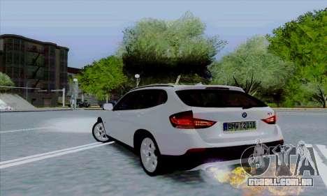 Bmw X1 para GTA San Andreas vista traseira