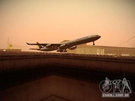 Airbus A340-600 South African Airways para GTA San Andreas vista direita