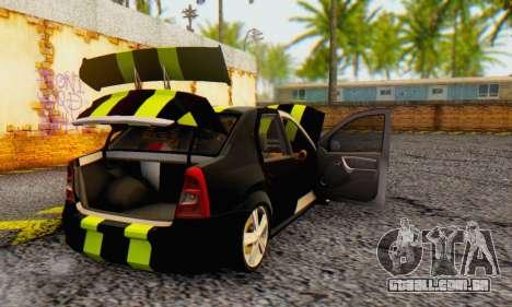 Dacia Logan Black Style para GTA San Andreas vista traseira
