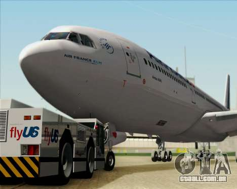 Airbus A340-313 Air France (New Livery) para vista lateral GTA San Andreas
