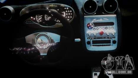 Pagani Zonda S (C12S) Roadster 2011 para GTA 4 vista direita