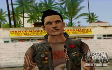 Claude in Pank Style para GTA San Andreas terceira tela