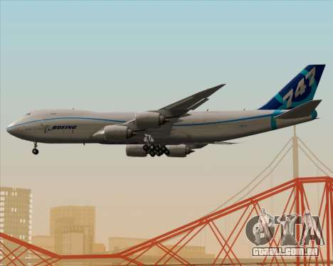 Boeing 747-8 Cargo House Livery para GTA San Andreas vista inferior