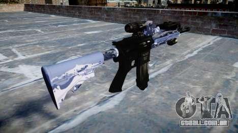 Automatic rifle Colt M4A1 blue tiger para GTA 4 segundo screenshot