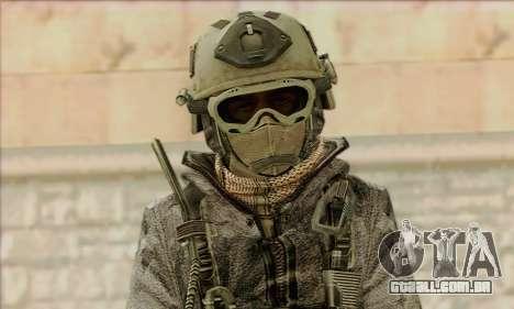 Task Force 141 (CoD: MW 2) Skin 1 para GTA San Andreas terceira tela