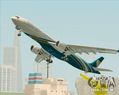 Airbus A330-300 Oman Air para GTA San Andreas vista superior