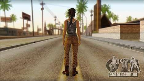 Tomb Raider Skin 11 2013 para GTA San Andreas segunda tela