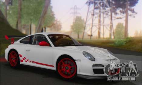 Porsche 911 GT3 2010 para vista lateral GTA San Andreas