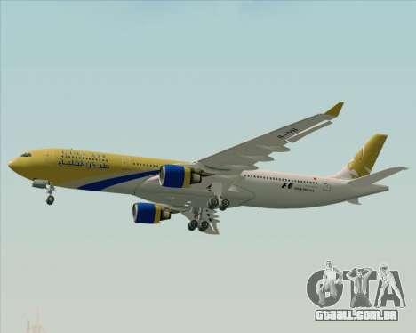 Airbus A330-300 Gulf Air para GTA San Andreas vista superior