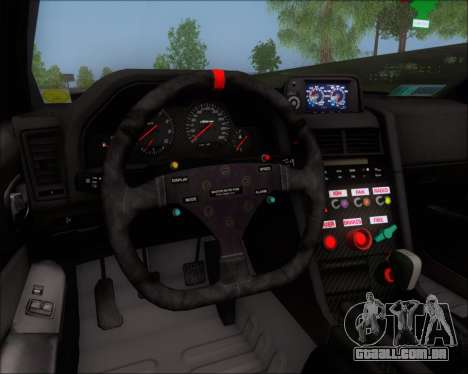 Nissan Skyline GT-R R34 V-Spec II para GTA San Andreas vista superior