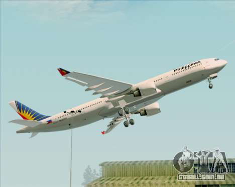 Airbus A330-300 Philippine Airlines para GTA San Andreas vista superior