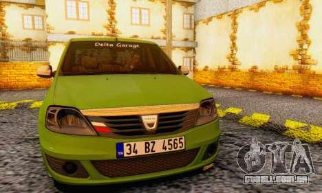 Dacia Logan Delta Garage para GTA San Andreas vista traseira
