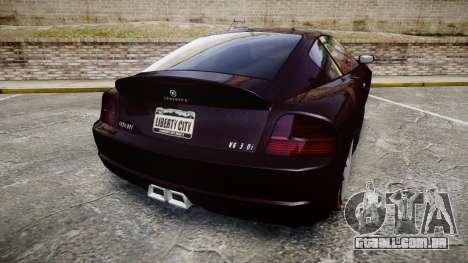 GTA V Schyster Fusilade v2 para GTA 4 traseira esquerda vista