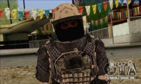 Task Force 141 (CoD: MW 2) Skin 15 para GTA San Andreas terceira tela