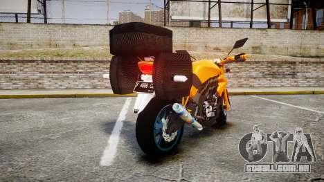 Yamaha V-ixion 150cc para GTA 4 traseira esquerda vista