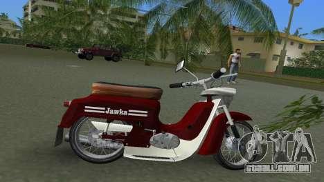 Jawa Type 20 Moped para GTA Vice City vista traseira esquerda