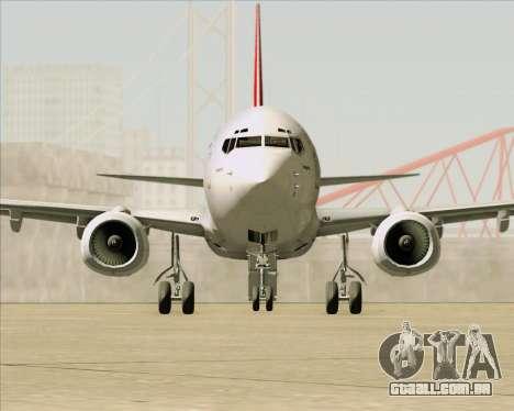 Boeing 737-838 Qantas para GTA San Andreas vista inferior