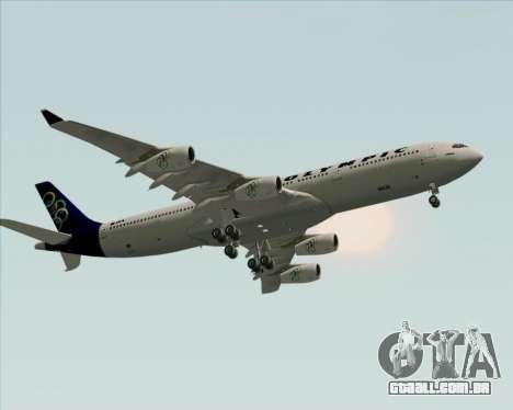 Airbus A340-313 Olympic Airlines para GTA San Andreas vista interior