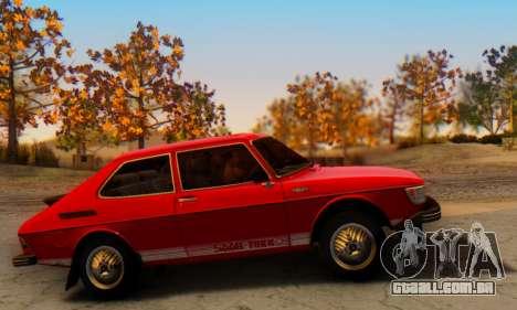 Saab 99 Turbo 1978 para GTA San Andreas vista traseira